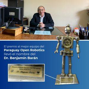 """Por segundo año consecutivo, y en la categoría """"Mejor Equipo"""", el trofeo otorgado lleva el nombre del Dr. Benjamín Barán."""